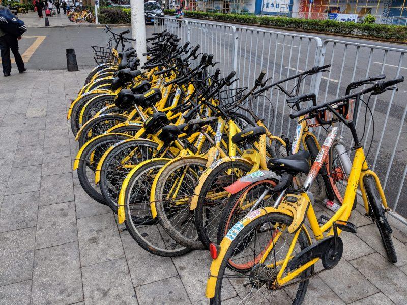 シェアサイクルなど新しいビジネスも中国では誕生しては、新陳代謝を迎えている