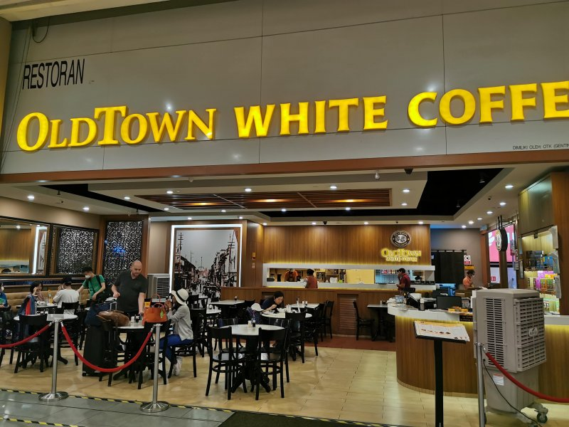 「Old Town White Coffee」など、マレーシア大手コーヒーチェーン店ではレシートに無料WiFi情報が記載されている