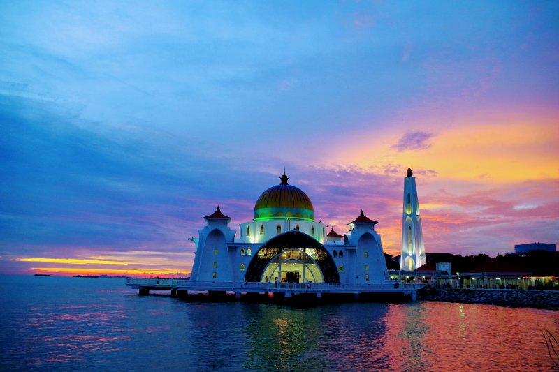 マレーシア・マラッカのフローティングモスク