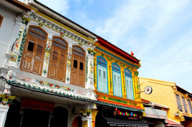 マレーシア・マラッカのジョンカーストリート、ハーモニーストリート周辺