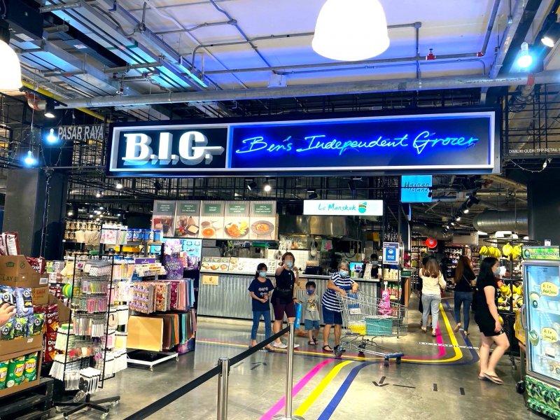 マレーシア・クアラルンプールのビッグ/ビーアイジー(B.I.G)の名称で知られるベンズインディペンデントグローサー(Bens' Independent Grocer)は店内に寿司やおにぎり、お弁当などを扱うコーナーもある